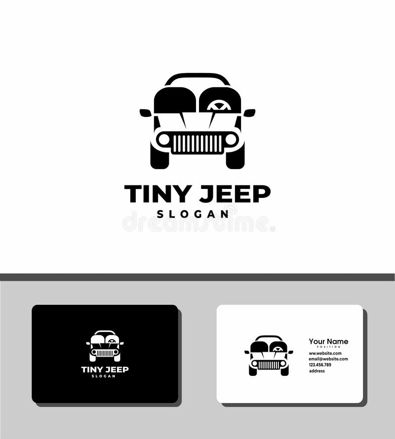 Tiny jeep logo royalty free stock photo