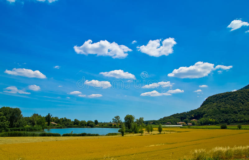 Download Tiny lake and the hills stock photo. Image of natural - 20648834