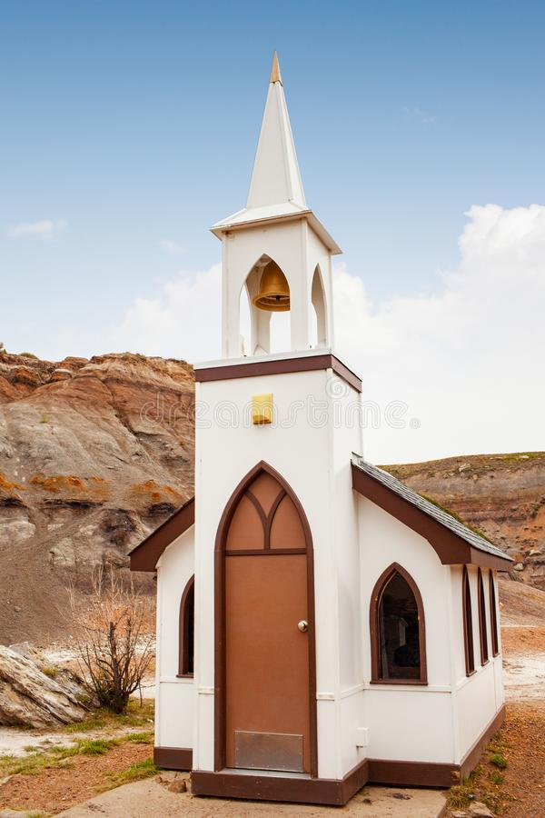 Free Tiny Little Church In Drumheller, Alberta, Canada Stock Photography - 125623382