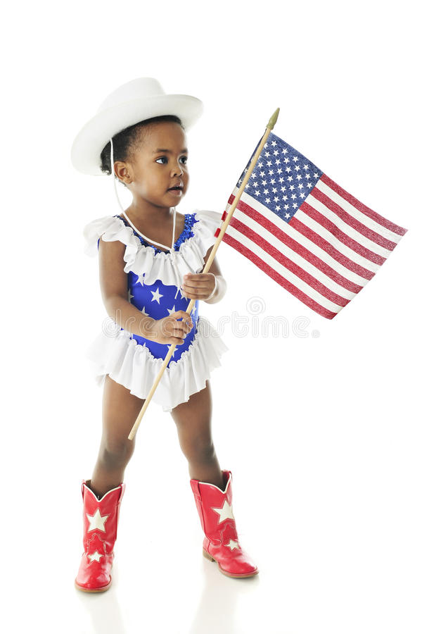 Tiny Majorette Patriot royalty free stock photography
