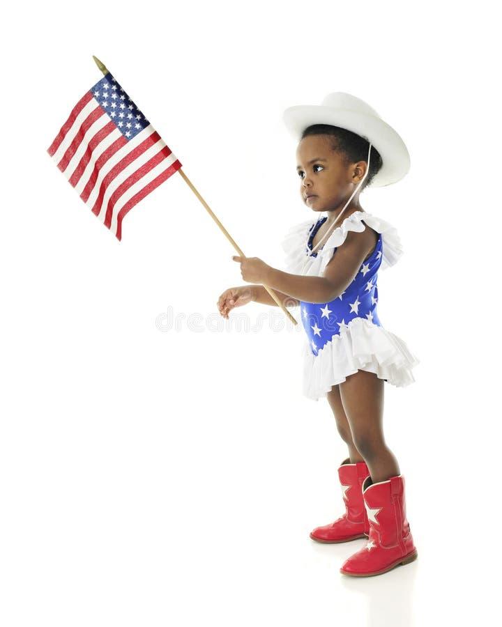 Tiny Patriot stock photo
