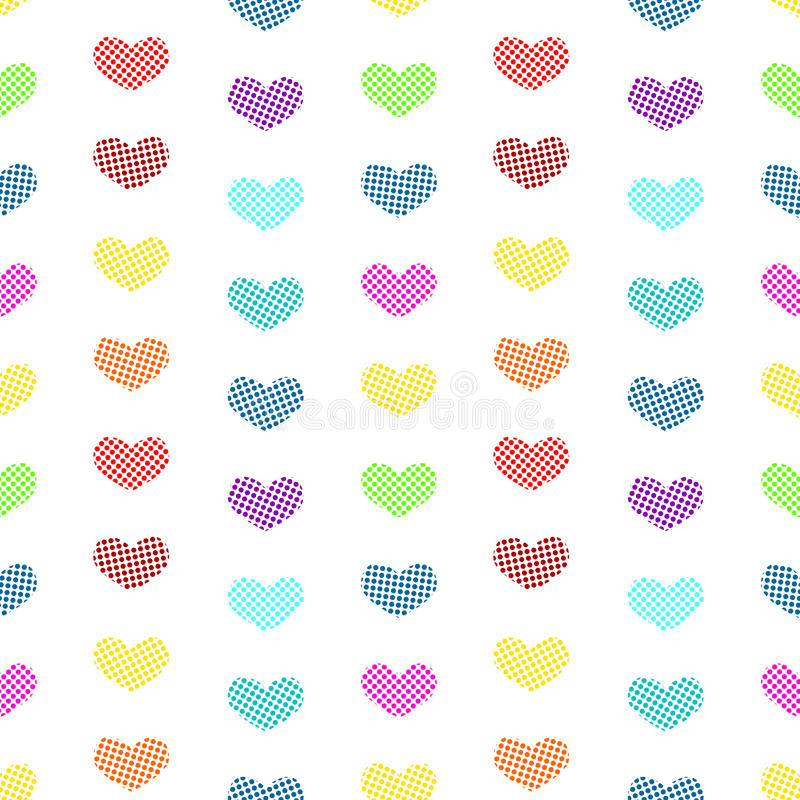 Download Tiny Polka Dot Hearts Seamless Background Stock Illustration - Image: 32183717