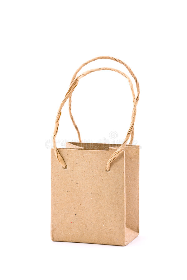 Download Tiny Recycled Paper Bag stock photo. Image of bags, retail - 6391012