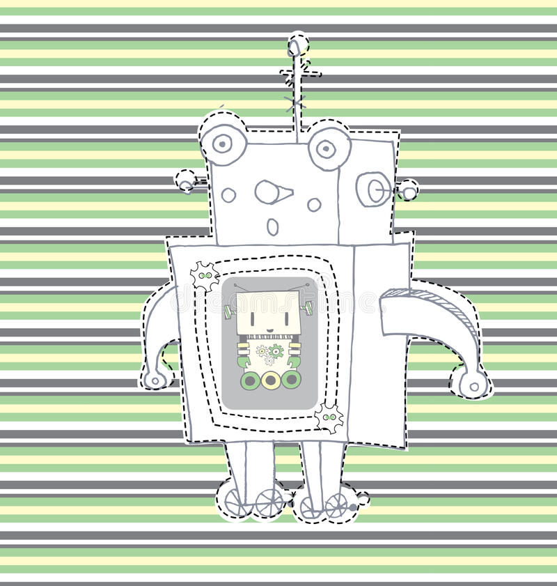 Download Tiny robot stock illustration. Image of beautiful, futuristic - 33440265