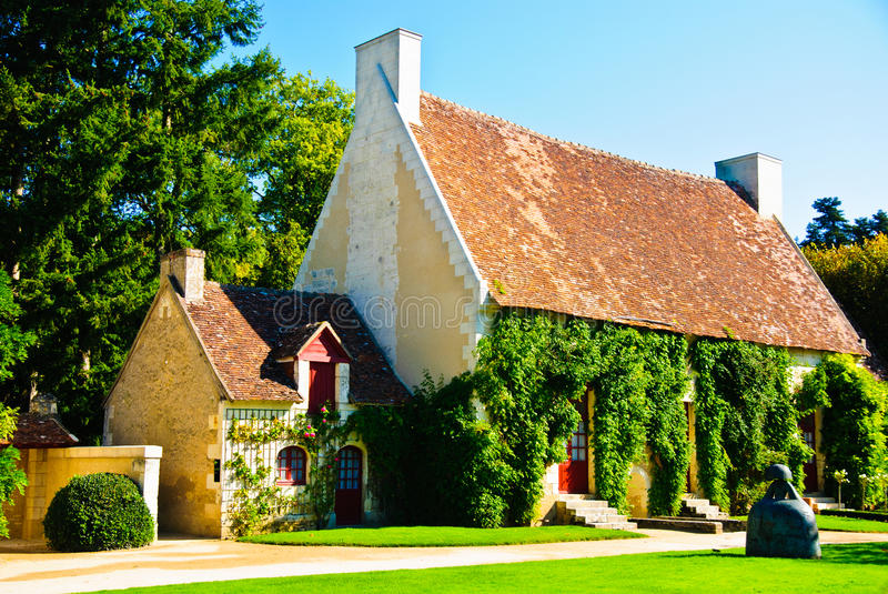 Tiny rural houses of seven dwarfs in France royalty free stock photography