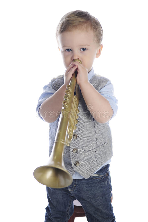 Free Tiny Trumpet Player Royalty Free Stock Photos - 93126518