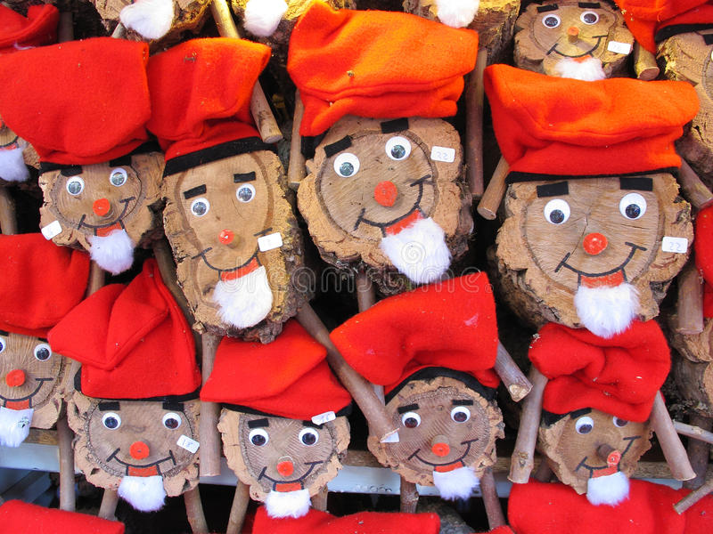 Tio de Nadal. BARCELONA, SPAIN - DECEMBER 11: Caga tio, a character in Catalan mythology relating to a Christmas tradition in Catalonia, at the Santa Llucia stock photo