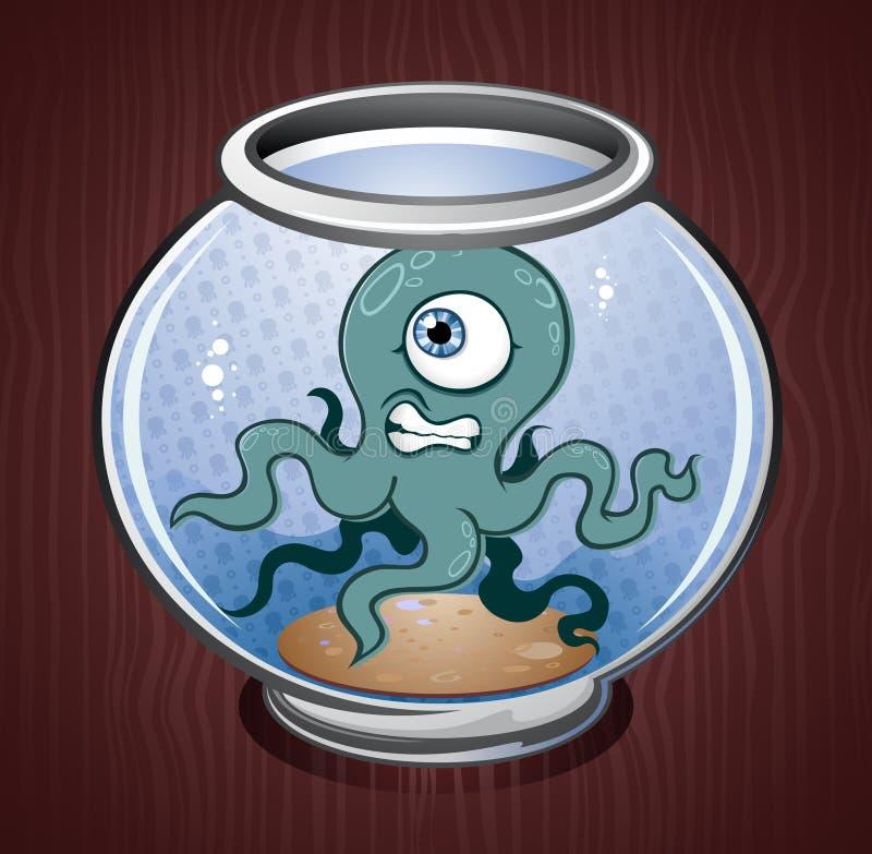 tioarmad bläckfisk för bunkefiskbläckfisk vektor illustrationer