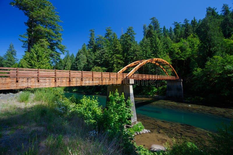 Tioga Bridge Over North Umpqua River royalty free stock images