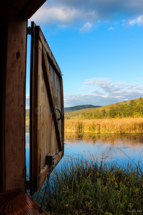 Tioga County Bird Blind stock images