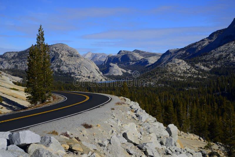 Tioga Pass the highway through Yosemite National Park stock photo