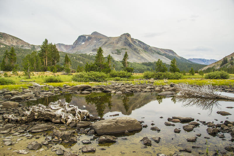 Tioga Pass Trail stock images