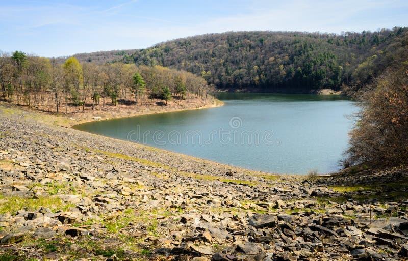 Tionesta Lake and Dam royalty free stock photos