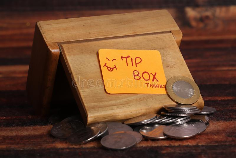 Tip box stock photography