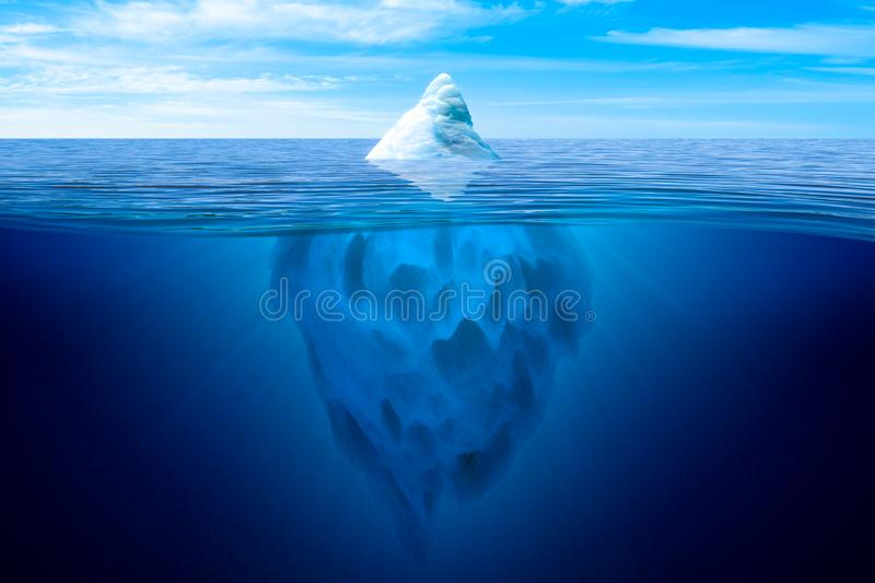 Tip of the iceberg. stock photos