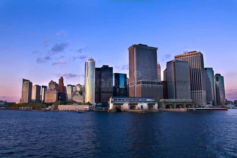 Tip of Manhattan royalty free stock photography
