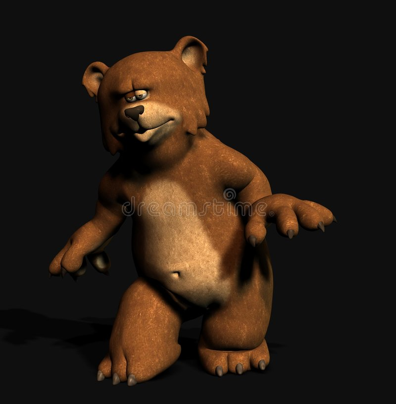 Tip-toeing Bear Stock Images