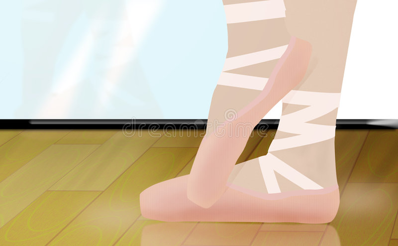 Tip toes royalty free stock image