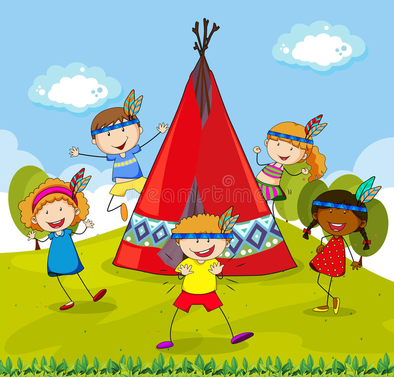 Tipi illustration stock