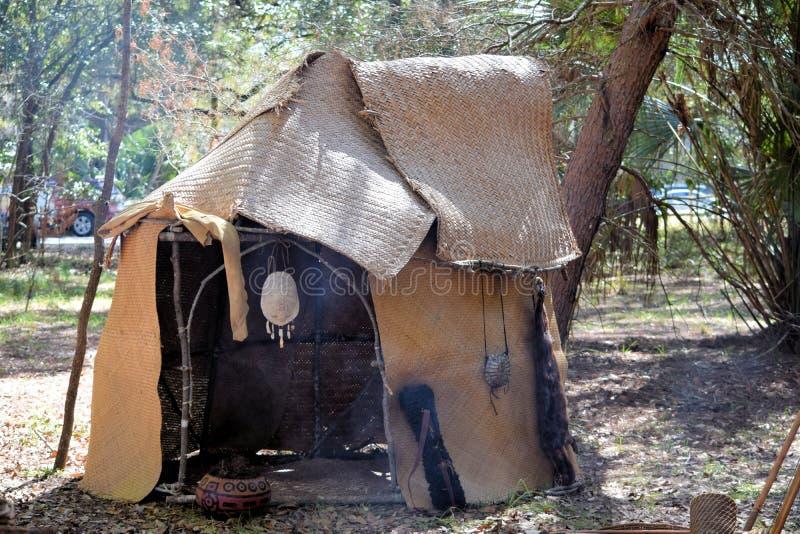 Tipi d'Indien de Seminole photographie stock