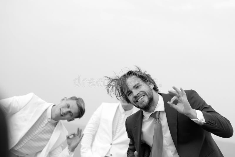 Tipi dei gemelli e dell'uomo in attrezzatura, affare agile, successo fotografia stock libera da diritti