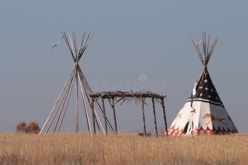 Tipi dell'nativo americano fotografia stock