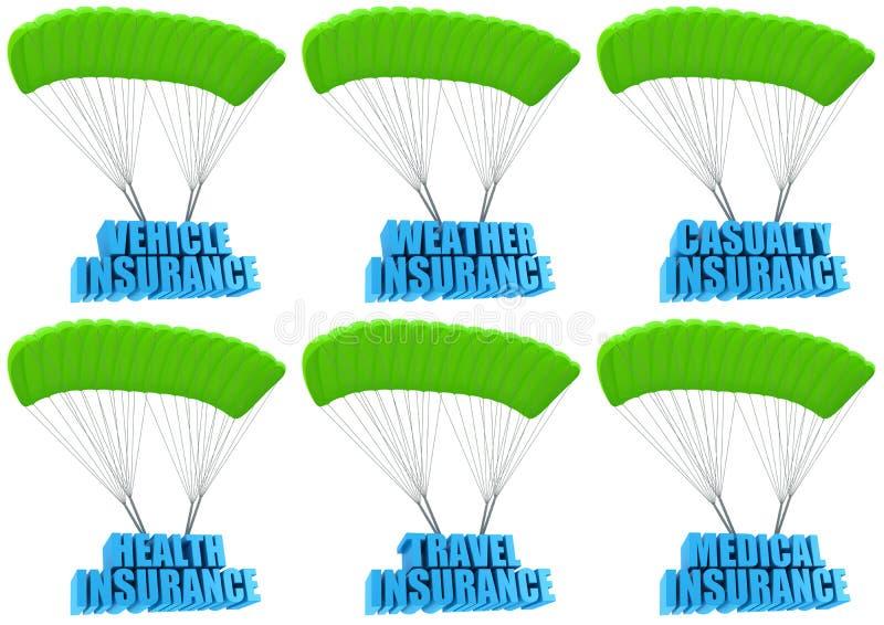 Tipi di assicurazioni in caso di morte dei dirigenti illustrazione vettoriale