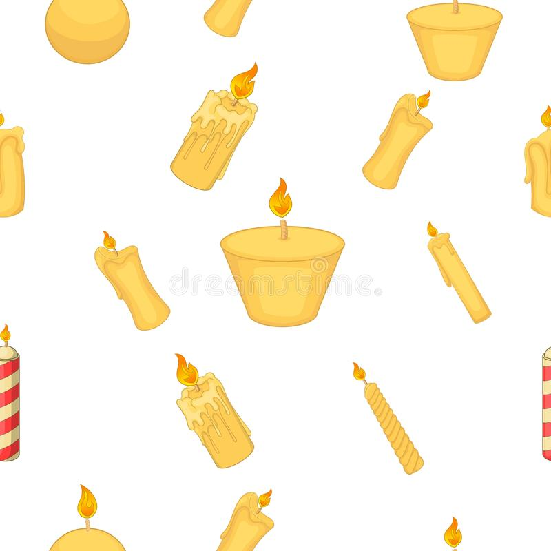 Tipi di candele modello, stile del fumetto illustrazione di stock