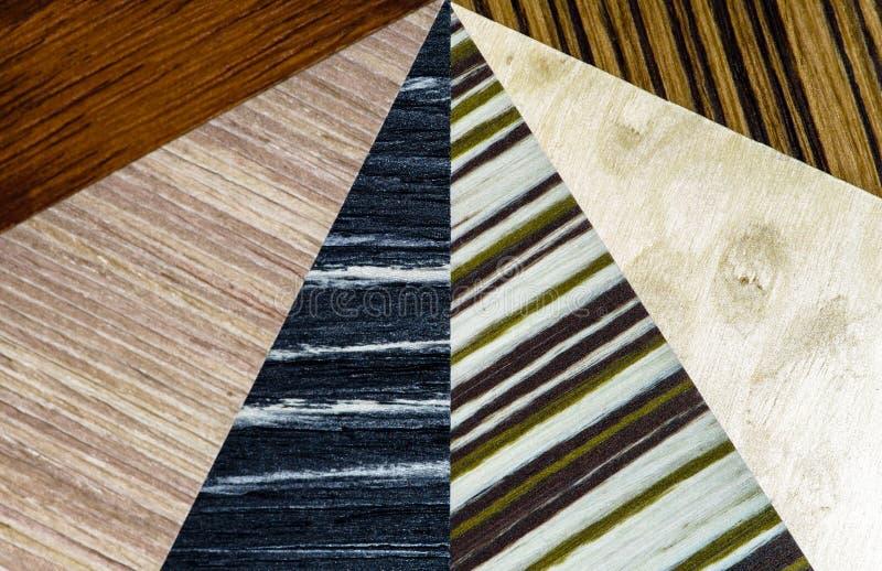 Tipi di legno di copertura messi fotografia stock libera da diritti