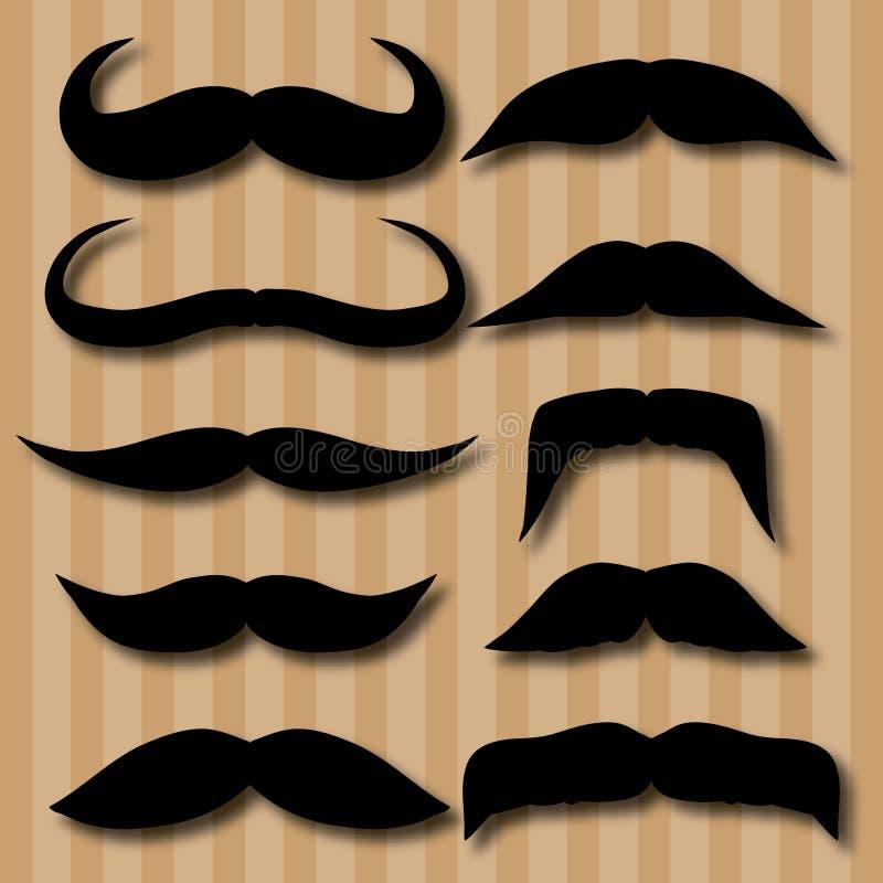 Tipi differenti di baffi retro stile illustrazione for Tipi di stile