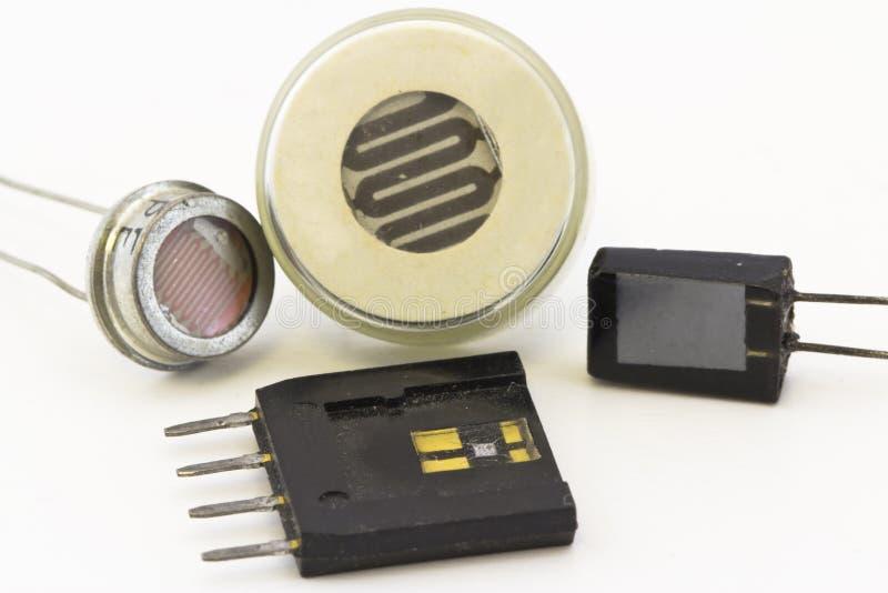 Tipi differenti di sensori fotografia stock