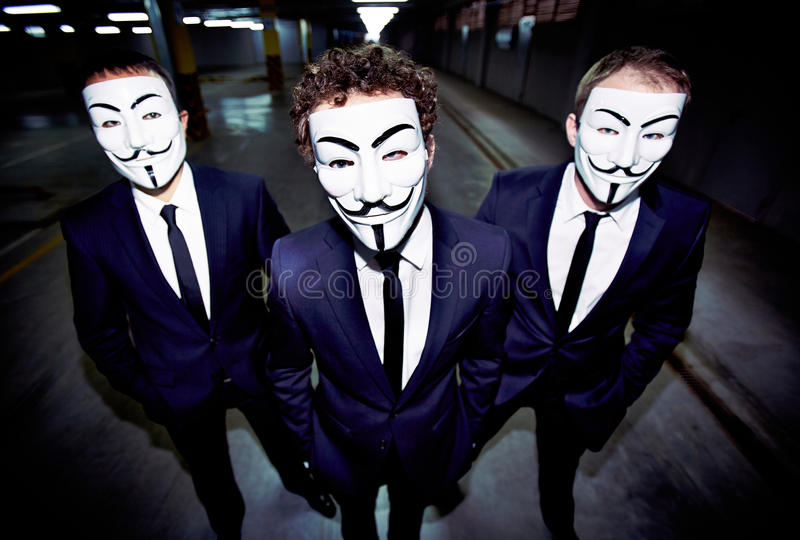 Tipi mascherati fotografia stock libera da diritti