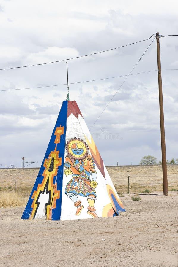 Tipi o tienda de los indios norteamericanos del nativo americano imagen de archivo libre de regalías