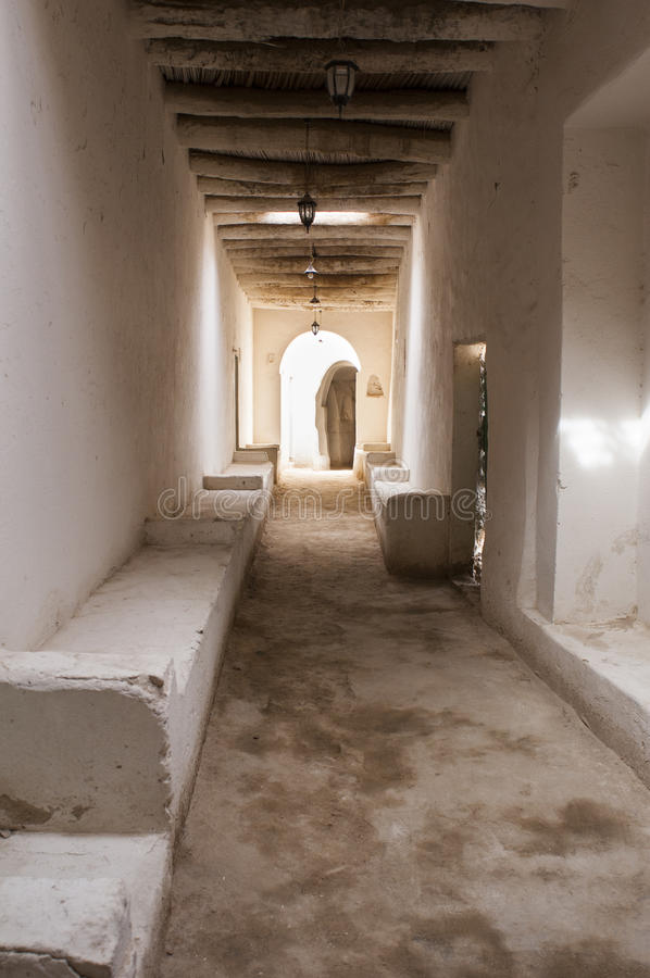 The tipical street of the ancient city of Ghadames royalty free stock photo