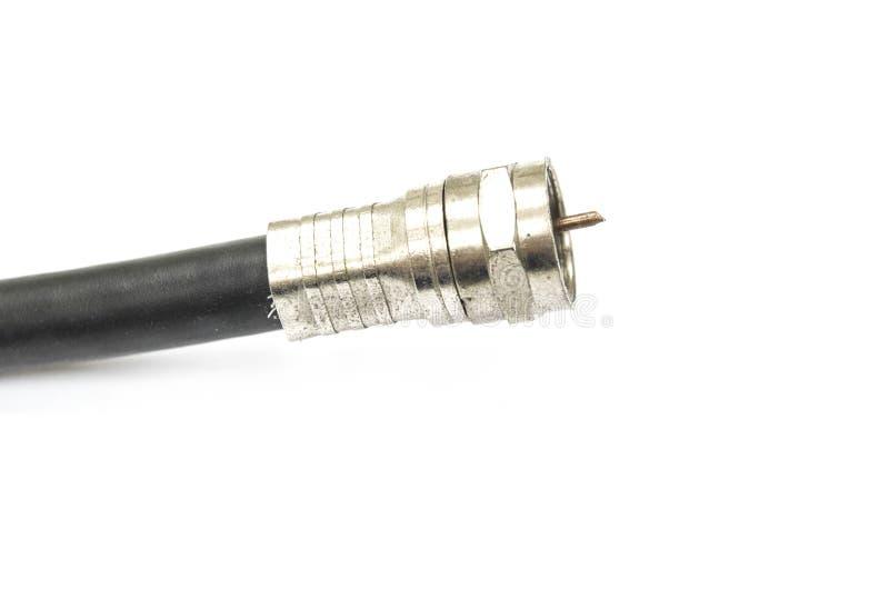 Tipo adaptador de F do conector da televisão foto de stock royalty free