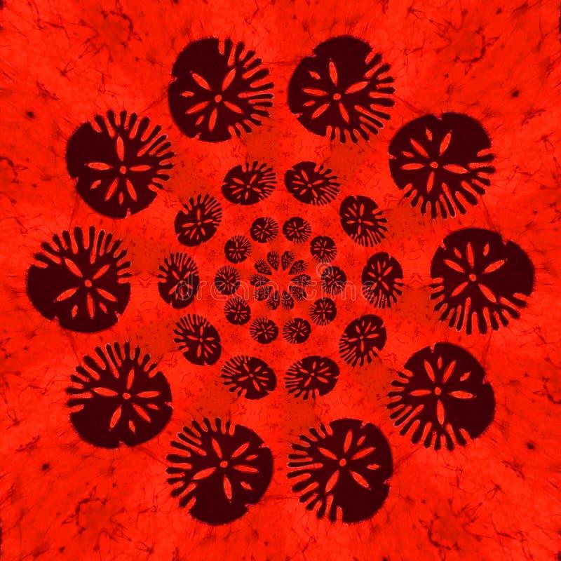Tipo africano impresión del diseño en color de la terracota stock de ilustración