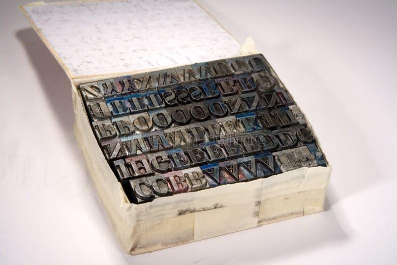 Tipo bloques de la prensa de copiar imagen de archivo libre de regalías