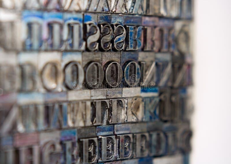 Tipo bloques de la prensa de copiar imagen de archivo