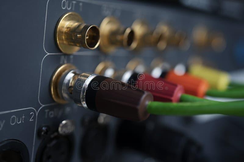 Tipo coaxial de la TV al dispositivo de registración fotografía de archivo
