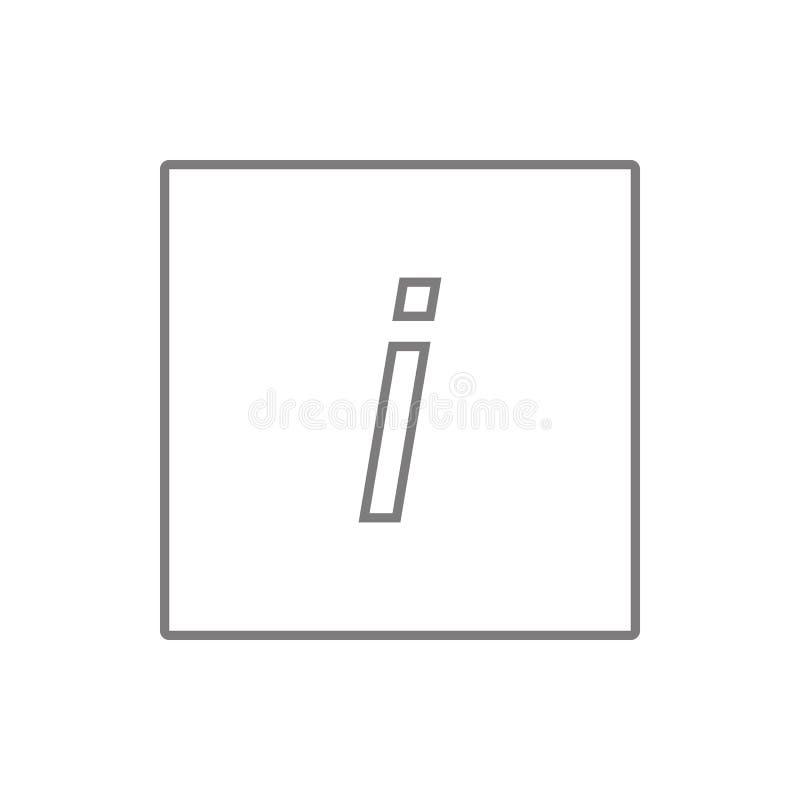 tipo cursivo icono del diseño gráfico del estilo Elemento de la seguridad cibernética para el concepto y el icono móviles de los  libre illustration