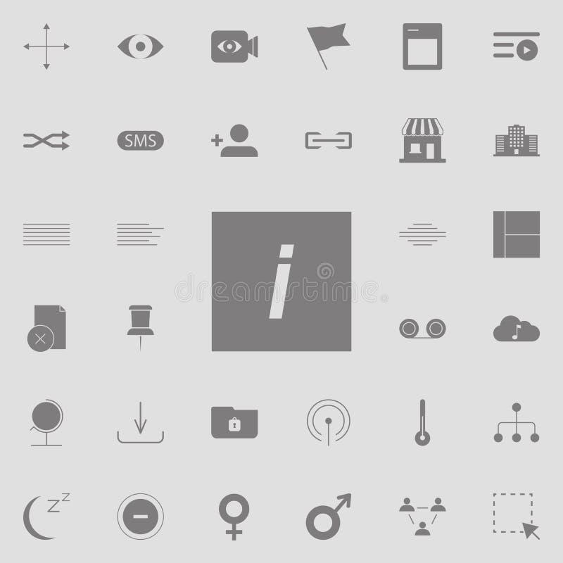 tipo cursivo icono del diseño gráfico del estilo sistema universal de los iconos del web para el web y el móvil stock de ilustración