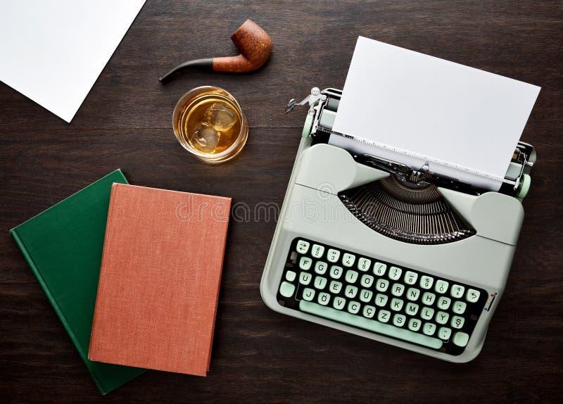 Tipo d'annata macchina da scrivere di f fotografia stock