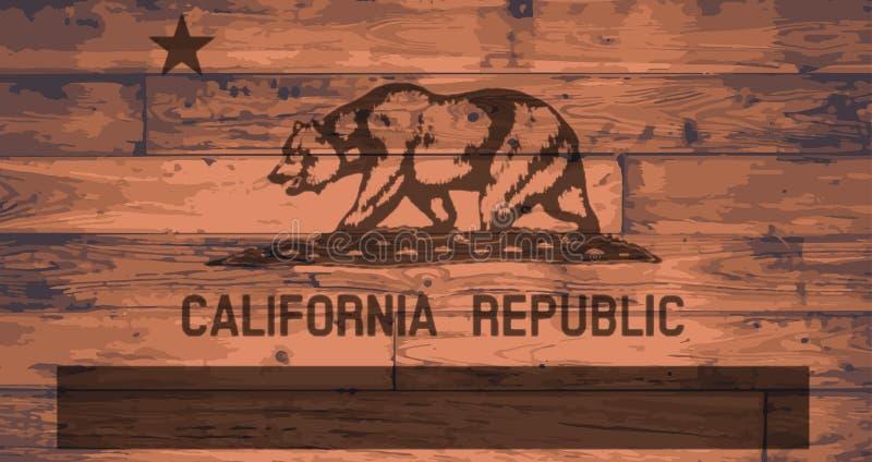 Tipo da bandeira de Califórnia ilustração stock
