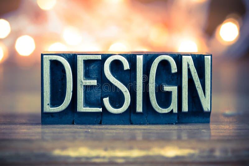 Tipo da tipografia do metal do conceito de projeto imagens de stock