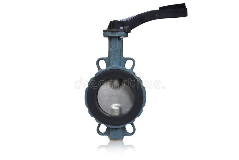 Tipo da válvula de borboleta usado na indústria de petróleo e gás no fundo branco imagem de stock royalty free