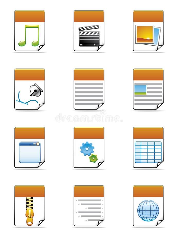 Tipo de arquivo ícones ilustração do vetor