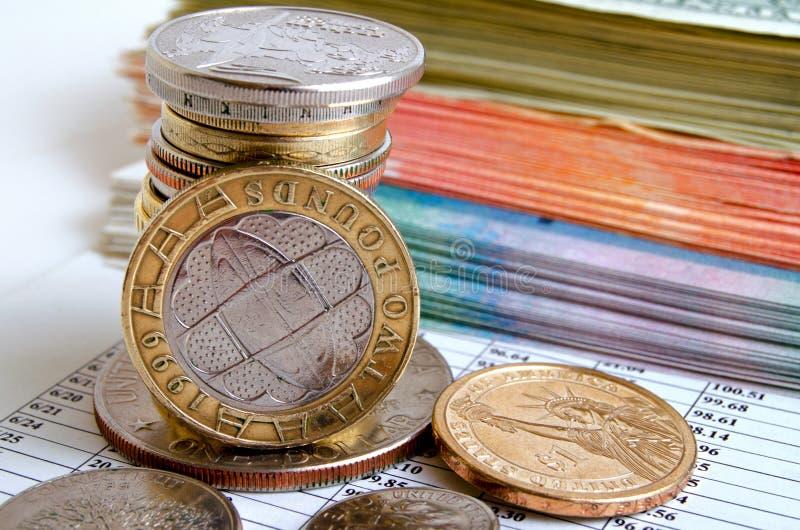 Tipo de cambio de la libra británico imagenes de archivo