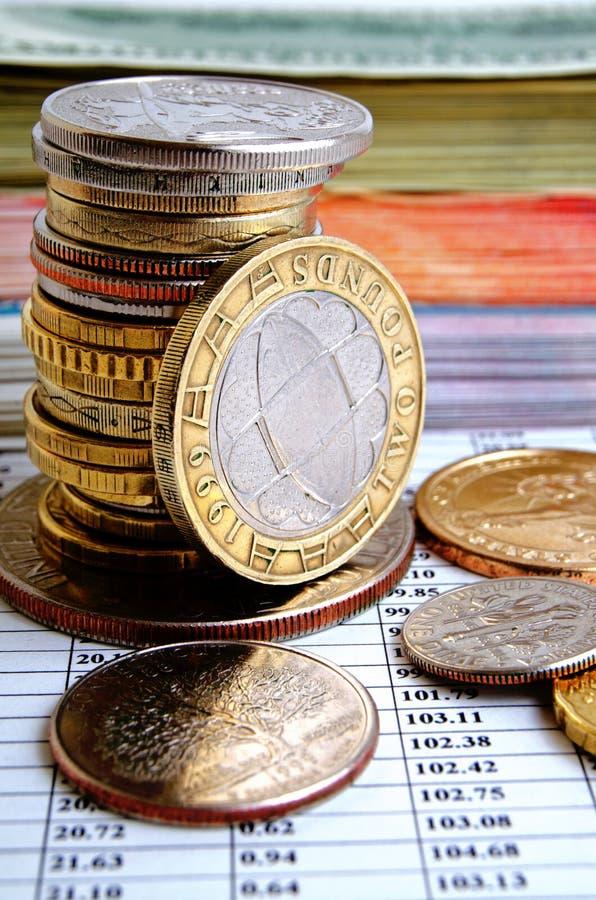 Tipo de cambio de la libra británico foto de archivo