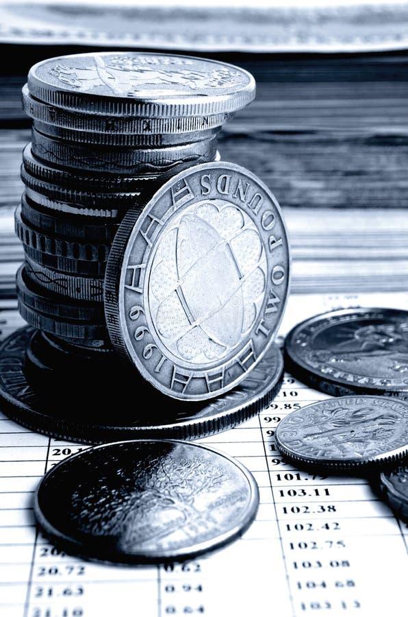 Tipo de cambio de la libra británico fotografía de archivo libre de regalías