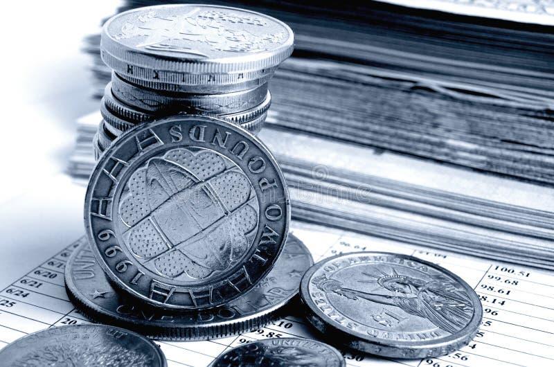 Tipo de cambio de la libra británico imagen de archivo